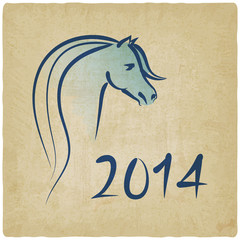 year of blue horse 2014 background