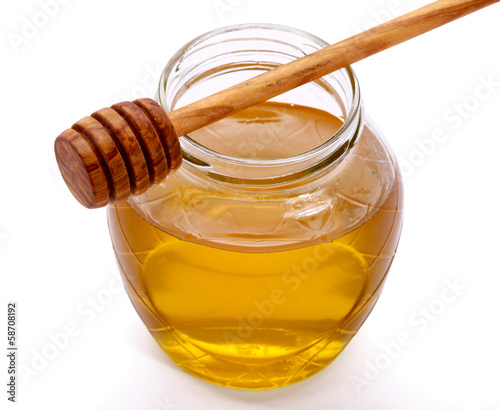 honey and honey spoon.