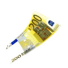 200 Euroschein fliegt