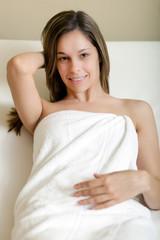 Beautiful woman in a spa