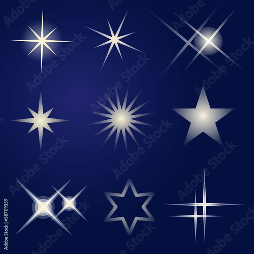 Set of bright stars