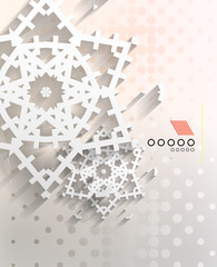 Paper snowflakes Christmas geometric background