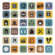 Business and infographics icon set, vector format