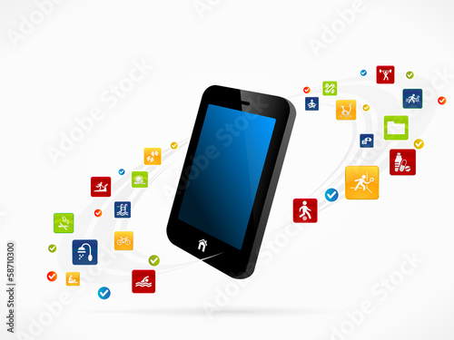 Mobile phone health organizer applications
