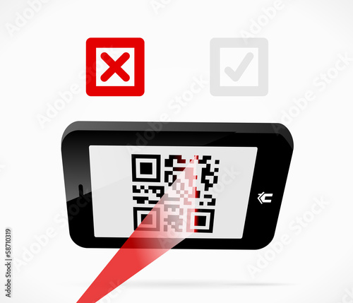 Failed scan for QR-code from a smartphone