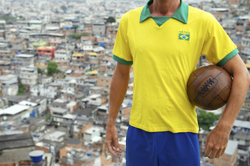 Brazilian Football Player Soccer Ball Favela