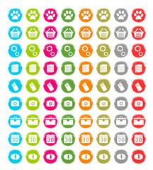 Iconos de colores para Web