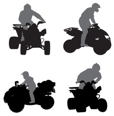 Silhouette of extreme off-road vehicle