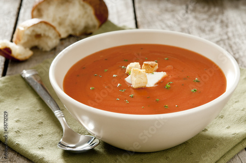 bowl of tomato soup.
