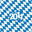 Bavaria New Year 2014 background vector