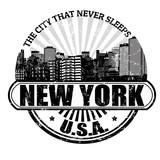Fototapety New York ( The city that never sleeps) stamp