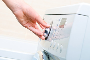 Display washing machine