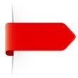 Langer roter Sticker Pfeil mit Schatten und Textfreiraum