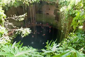 Cenote near Chichen Itza archeological park, Mexico