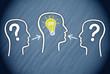 Team mit Frage und Lösung