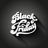 Black Friday vector Vintage design poster. Retro Typography