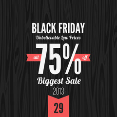 Black Friday 2013 vector Vintage design poster template