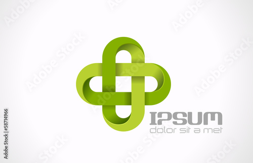 Logo Pharmacy Green cross. Hospital clinic medicine vector