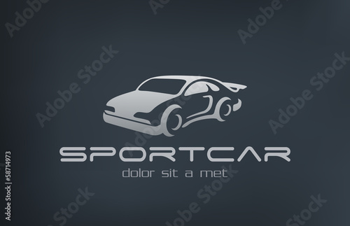 Logo Sport Car abstract vector. Auto vehicle silhouette