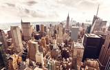 Fototapety Manhattan skyline aerial view