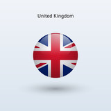 United Kingdom round flag. Vector illustration.