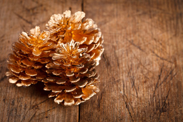 Golden pine cones