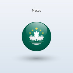 Macau round flag. Vector illustration.