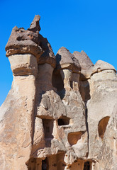 Fairy chimneys (rock formations) at Cappadocia Turkey