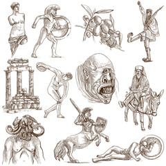 Traveling: GREECE, part 2 - Collection of an hand drawings.