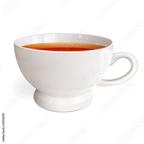 White cup of tea