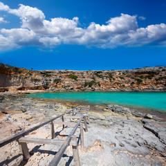 Formentera Cala en Baster in Balearic Islands of Spain