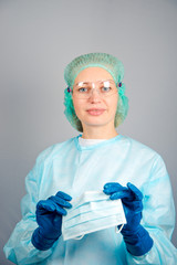 nurse, doctor, face mask, gloves, young, surgery, glasses, cap,