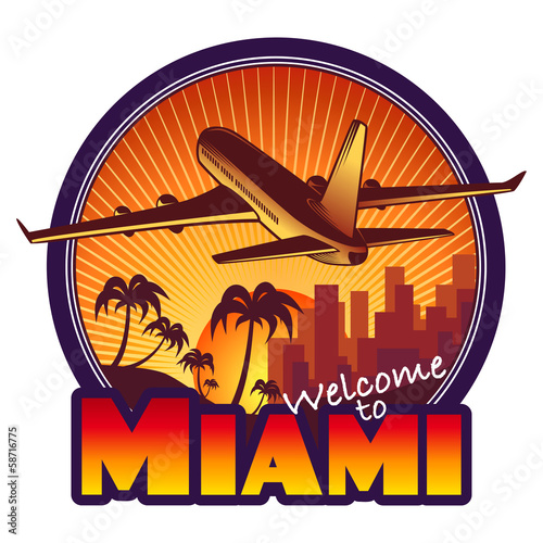 designed travel label, Miami