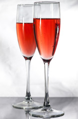 Red Champagne cups.