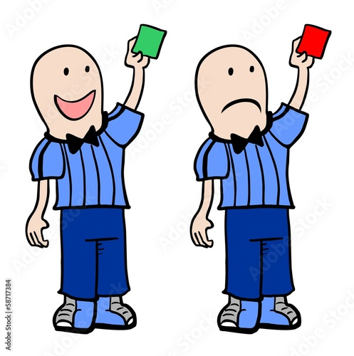 Sport green and red cards