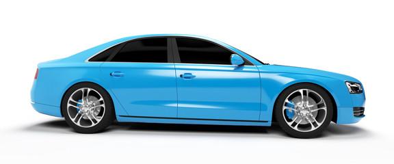 illustration of a concept sports sedan
