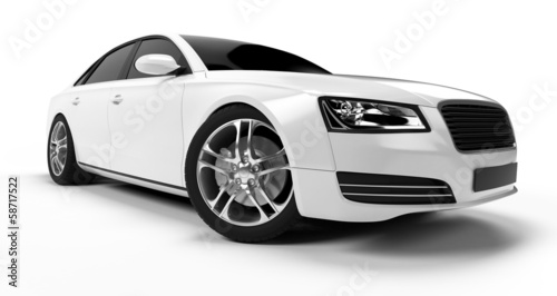 illustration of a concept sports sedan