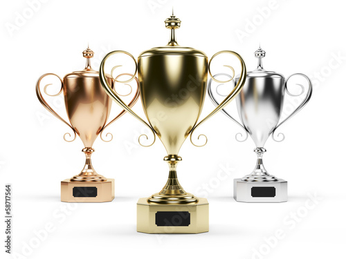 3d rendered illustration of some trophies