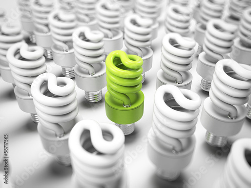 3d illustration of an energy saving light bulb
