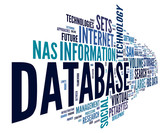 Database concept in word cloud