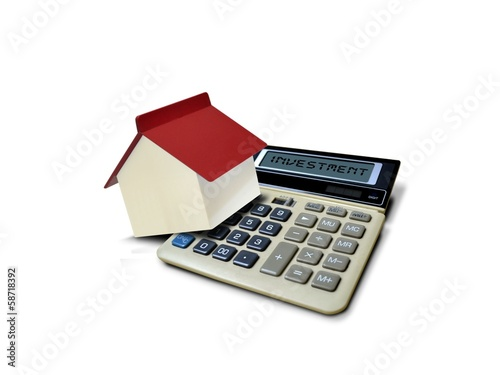 Property Investment with House and Calculator