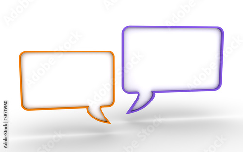 Two speech bubbles