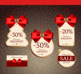 Set for decoration of holiday discounts