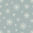 Retro color seamless snowflake  pattern.