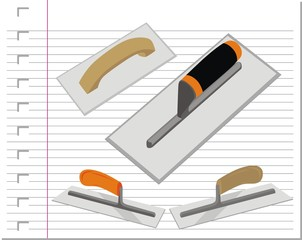 illustration building tools with on paper