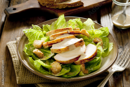 Caesar salad with grilled chicken.