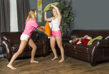 Slumber Party Pillow Fight