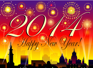 Happy New Year-2014-Vector