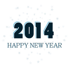 Happy New Year 2014 celebration vector background