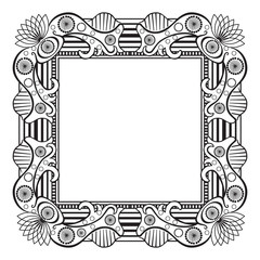 Frame vintage border decorative pattern vector design